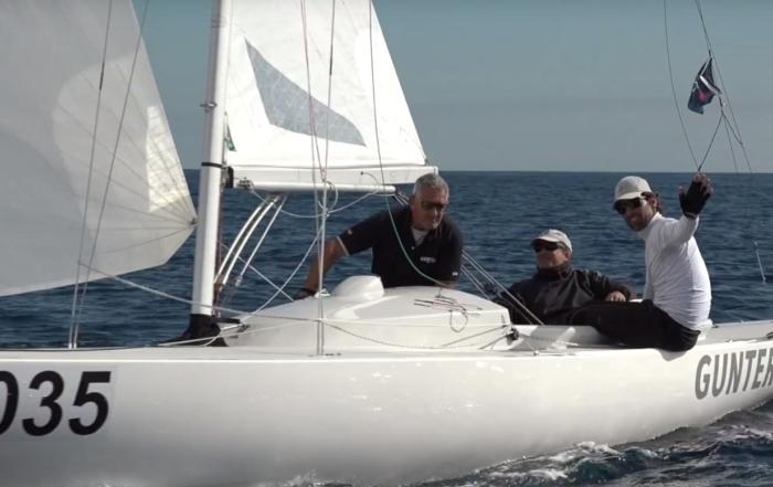San Remo . Aniversario 90 años de dragon 160 barcos en línea de salida.quedamos 51!