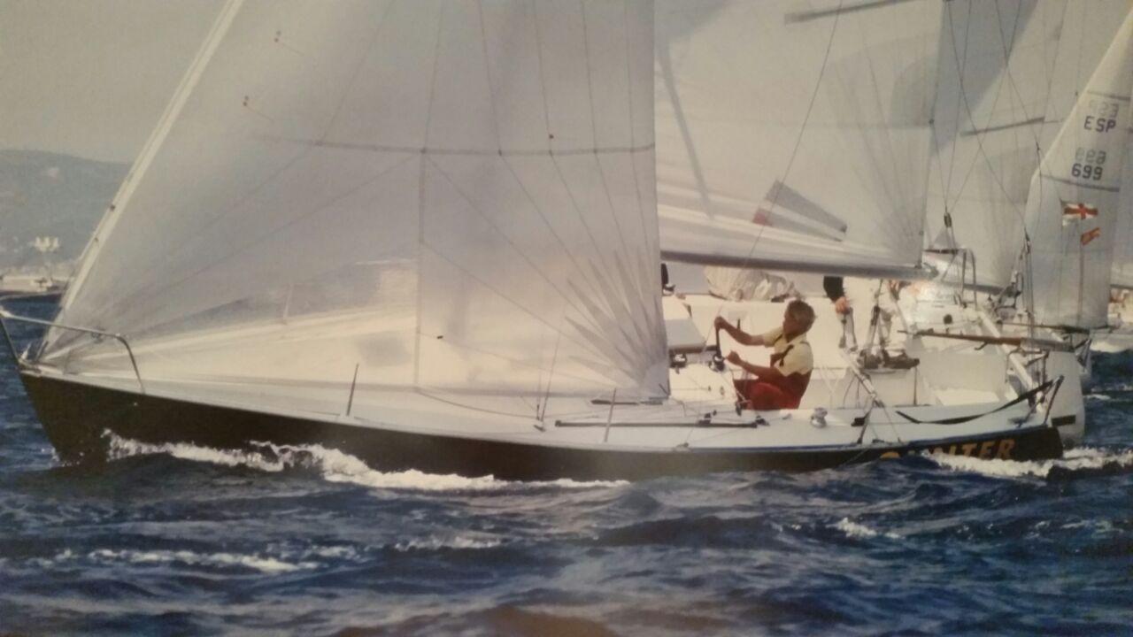 Alex Pella, a bordo del Gunter